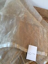"""VINTAGE 1980'S ORGANZA WITH GOLD METALLIC  60"""" / 154 CM WIDE X 54"""" / 1.4 M LONG"""