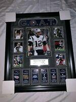 Tom Brady Custom Framed 20x24 New England Patriots Photo G.O.A.T