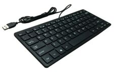 CQT 78 Keys Mini Slim Lightweight Wired USB Plastic Black Keyboard Windows 7 10