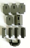 Genuine Lego Dark Grey 4444 2345 6066 30100 Castle Wall Panels Joblot Bundle