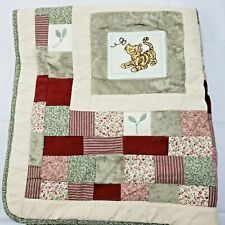 "Classic Pooh Baby Quilt Winnie Cotton Blanket 33"" x 37"" Tigger Eyore  Piglet"