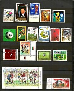 World  Football Stamps  - Various Countries MNH inc mini sheet
