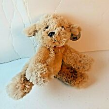 """First & Main 8"""" Pup E Dog Tan Plush 2002 Stuffed Hand Crafted Toy Animal"""