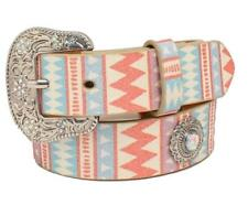 Angel Ranch Western Girls Belt Kids Glitter Conchos Multi Colored D130000497
