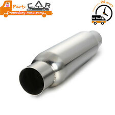 "2.5"" Exhaust Hotdog Resonator Muffler Glass Pack 12"" Long High Flow"