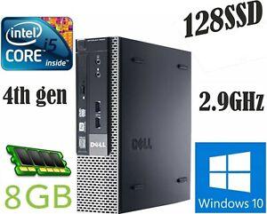 DELL 9020 SFF intel Core  i5-4570S 2.9GHz 4th Gen 8GB RAM 128SSD Windows10