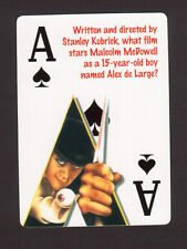 A Clockwork Orange Stanley Kubrick Malcolm McDowell Neat Playing Card #1Y7