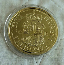 CHARLES II 1660 - 1662 GOLD UNITE HALLMARKED SILVER PROOF