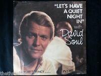 "VINYL 7"" SINGLE - LET'S HAVE A QUIET NIGHT IN - DAVID SOUL - PVT130"