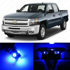 12 x Blue LED Interior Light Package For 2007 - 2013 Chevy Silverado + PRY TOOL