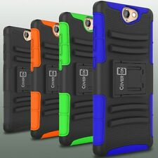 Holster Cover Rugged Tough Hybrid Belt Clip Case for HTC One A9 Phone Protector
