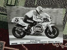"7"" x 5"" PRESS PHOTO - KEVIN MAGEE - TEAM LUCKY STRIKE YAMAHA 500cc (2)"
