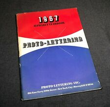 1967 Alphabet Yearbook Photo-Lettering Type Setting Graphics Design Book Info