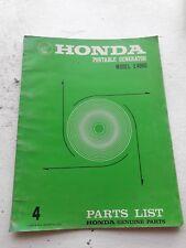 Honda Portable Generator EM4000 Factory Parts Manual 1976 print