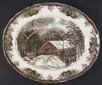 "Johnson Brothers THE FRIENDLY VILLAGE 15 1/4"" Oval Serving Platter 4654147"