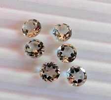 6.80 Cts 6 Pcs Natural Green Amethyst Round Cut Lot Loose Gemstone 7 MM C-1244