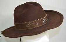 "Bullhide ""Horsing Around"" Chocolate Cowboy Hat Leather Band Horse Pins Sz Medium"