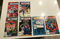 Wolverine #2, 3, 5, 6, 7, 8 (Lot of 6)1988-1989