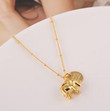 Henri Bendel 14K Gold Tone Elephant Pendant Necklace w/ Gift Box