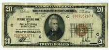 FR. 1870C 1929 $20 Federal Reserve Bank Note Philadelphia Brown Seal