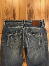 Buckle BKE AIDEN Thick Stitch Medium Wash Straight Leg Jeans Mens Size 29 X 29
