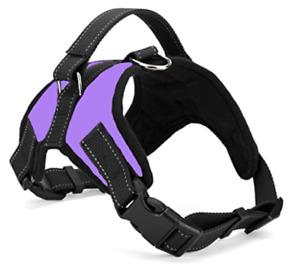 No Pull Dog Pet Harness Adjustable Control Vest Dog Reflective XS S M XXL Purple