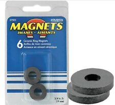 Master Magnetic 07005 Pack of Six (6) Ceramic Magnetic Rings 3/4 dia x 1/8 Thick