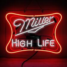 Neon Light Miller Lite High Life Beer Bar Pub Homeroom Store Decor Signs 19x15