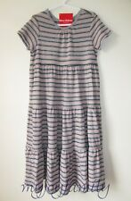 HANNA ANDERSSON Girl Love Twirl Pima Cotton Dress Heather Grey 120 6-7 NWT