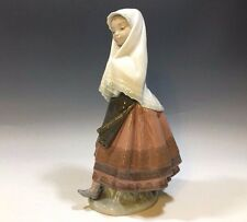 "Cute! Lladró Daisa 1979 Figurine Young Peasant Made in Spain 10 1/2""H"