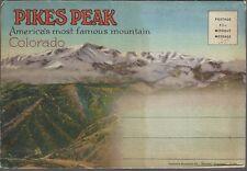 PIKES PEAK Colorado Folder 18 Views ~ LINEN