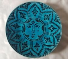 STRIKING PERSIAN DESIGN TURQUOISE CERAMIC PLATE, POSSIBLY MID 20TH CENTURY