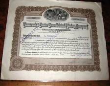 TAMARACK & CUSTER CONSOLIDATED MINING STOCK CERTIFICATE 1917 Coeur d'Alene Idaho