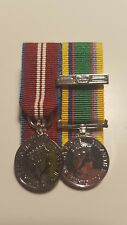 QDJM Cadet Force Medal With 2nd Award Miniature Medals Mounted (jubilee, Clasp)