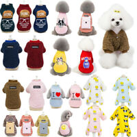 Pet Clothes Cute Pattern Dog Cat Puppy Winter Long Sleeve Warm Costume Sweater