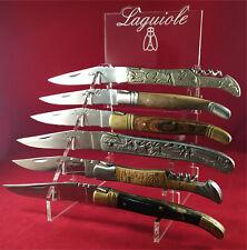 Superbe Présentoir plexi pour 6 Laguiole réf.C6L