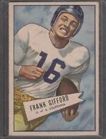 1952 Bowman Large Frank Gifford Rookie #16 New York Giants