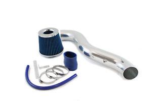 "GSP 3"" Blue Short Ram Air Intake Induction Kit + Filter For 90-93 Integra"