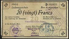 Ro.417a occupazione Francia 20 Franchi 1914/15 Deichmann Bon (2)