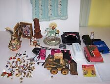 HUGE JUNK DRAWER LOT PINS PYREX CELL PHONE COC JOES NORMAN ROCKWELL SILVER PLATE