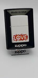 Original Zippo - Love Peace - weiss matt  - 2017 -  Neu 60003409