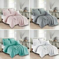 Sienna Living Sapphire Embossed Coverlet All Sizes Pink, Silver, Ocean, White
