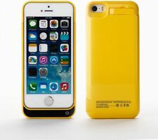 iPhone 5 5C SE 5S Battery Charger Case Yellow 2200mAh Extra Battery Life New