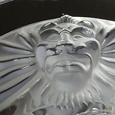 """Lalique   Crystal """"Tete De Lion"""" Ashtray"""
