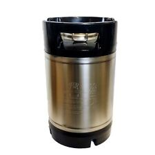 HOME BREWING - 9.5L STAINLESS STEEL BALL LOCK KEG WITH RUBBER HANDLE
