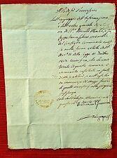 G38-STATO PONTIFICIO, PERGOLA, CERTIFICATO DI POVERTA', 1815