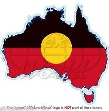 AUSTRALIA ABORIGINAL Map Shape, Australian Aborigines, Aborigine Decal, Sticker