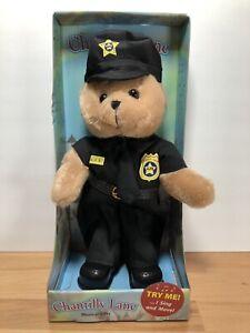 "Chantilly Lane ""Police Officer Bear"" Dances To Bad Boys - Needs Batteries NIB"