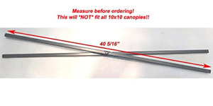 """Coleman 10x10 New Instant Sun Shelter Canopy -SIDE Truss Bars 40 5/16"""" Parts"""