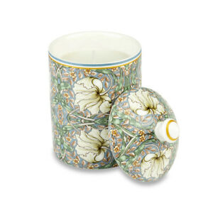 Ceramic Candle Jar by William Morris Pimpernel with Wax Candle Scented with Lid
